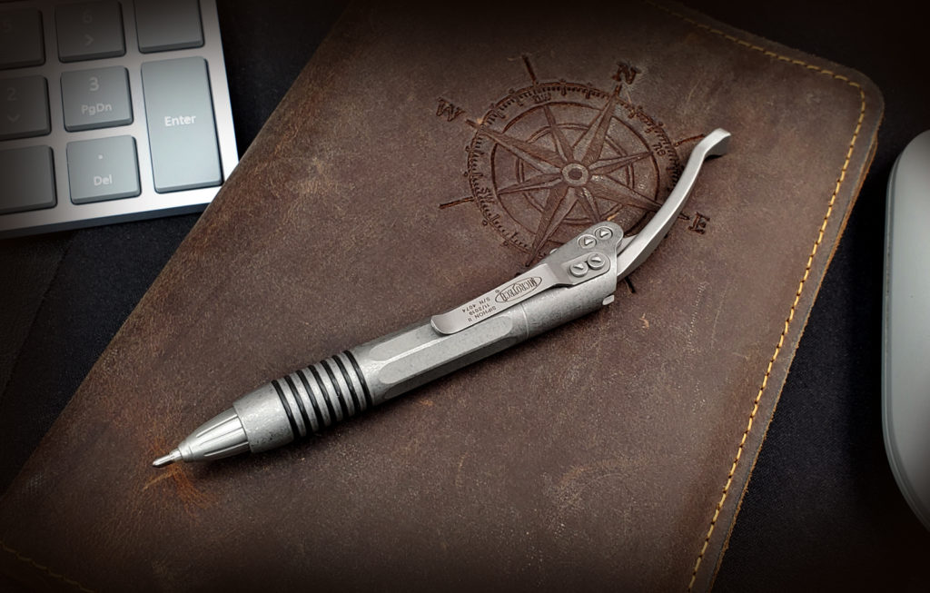 Microtech Siphon II Pen on Journal